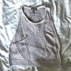 Dolce Vita Jordan gray crop tank sweater NWT sz S